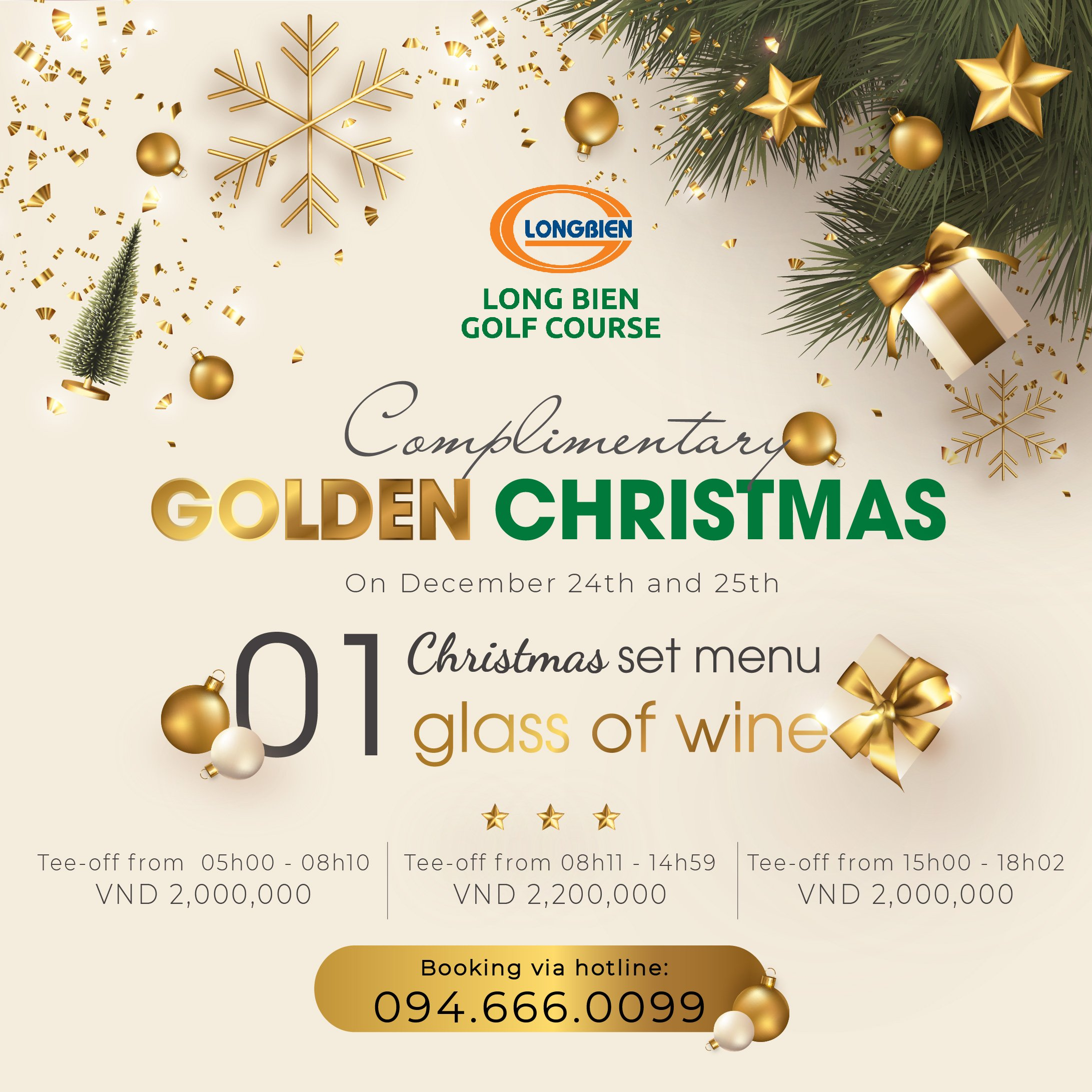 """GIÁNG SINH THÊM LUNG LINH VỚI CHƯƠNG TRÌNH ƯU ĐÃI """"GOLDEN CHRISTMAS"""""""