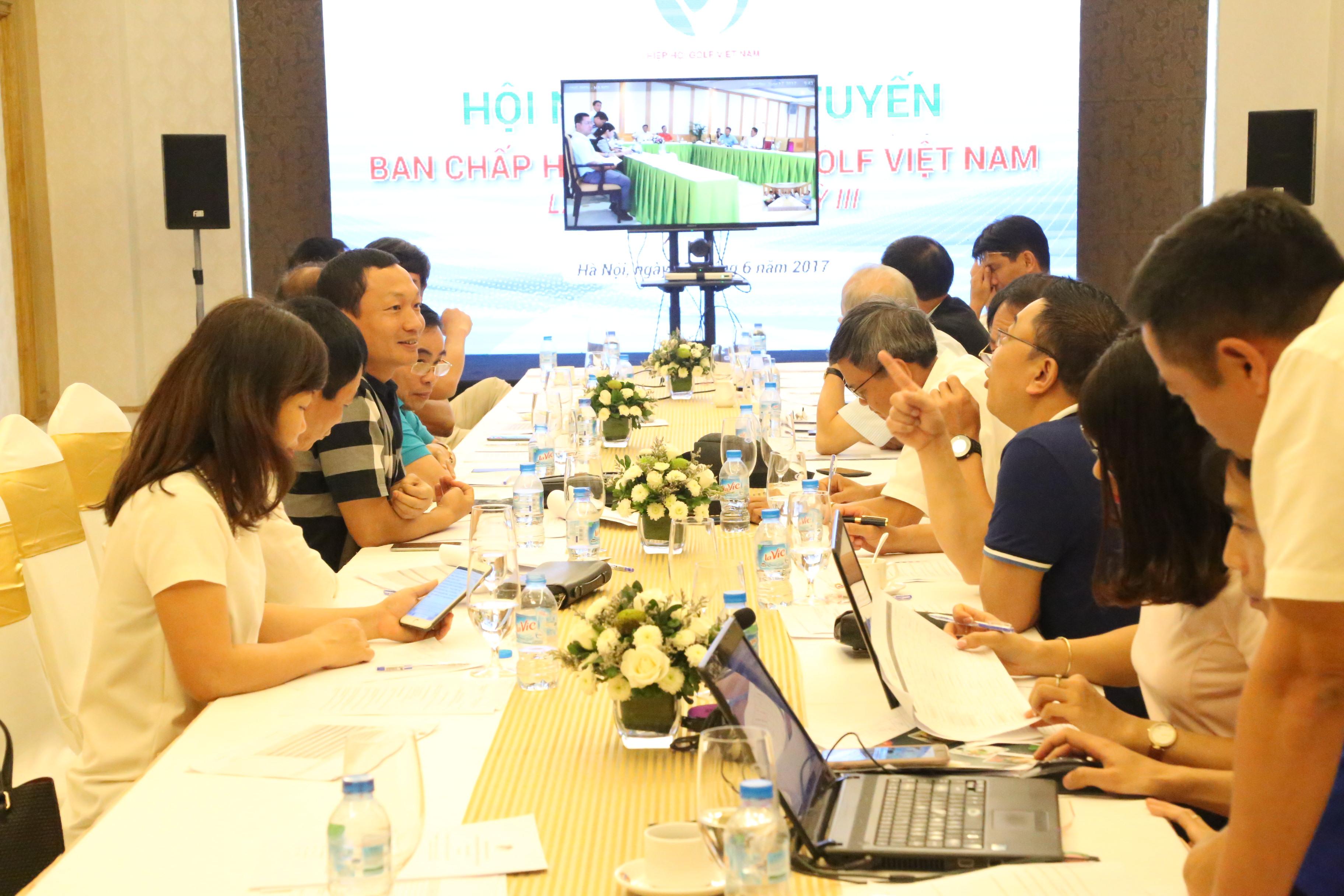 Hiệp hội golf VN họp trực tuyến bầu BCH nhiệm kỳ mới